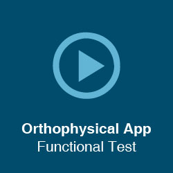 Orthophysical App – Functional Test