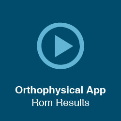 Orthophysical App – Rom Results